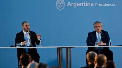 El ministro de Economía, Martín Guzmán, junto al presidente, Alberto Fernández (Maximiliano Luna)