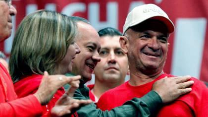 Hugo Carvajal Barrios con Diosdado cabello y Tareck El Aissami