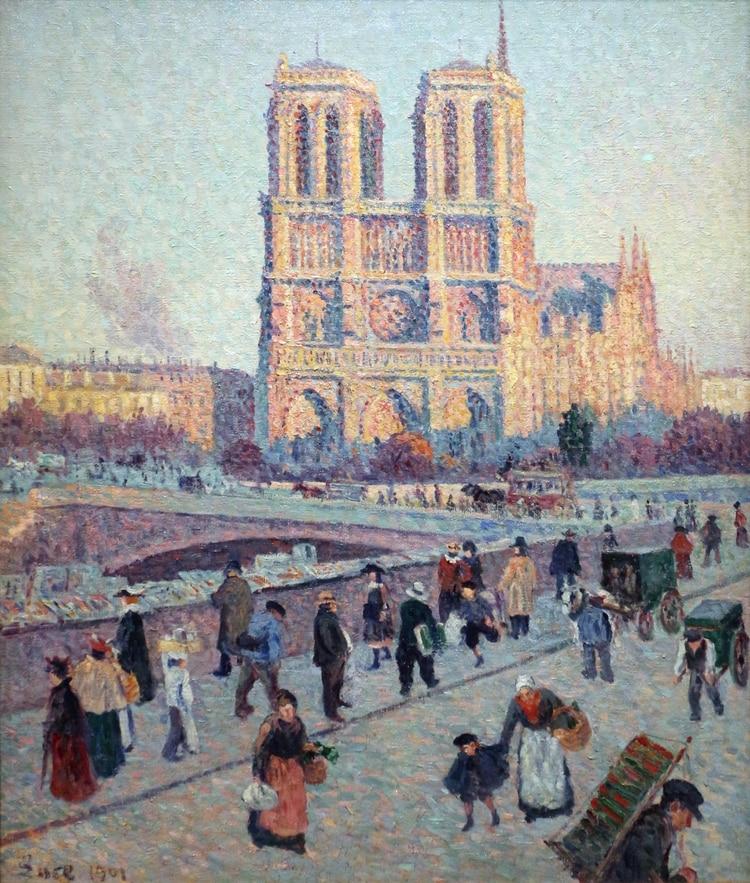 """""""Notre Dame de París"""" (1900) de Maximilien Luce"""