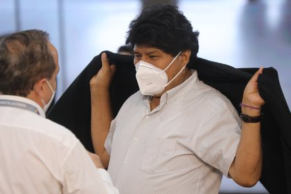 Evo Morales estuvo internado dos semanas por coronavirus (EFE/Miguel Gutiérrez)