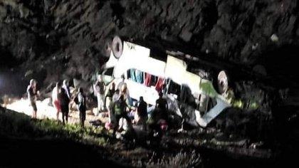 El vehículo se desbarrancó cuando se dirigía desde Antofagasta a Ovalle