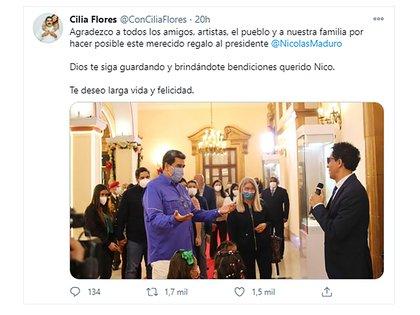 La esposa de Maduro agradeció por Twitter la asistencia de los músicos invitados al festejo de cumpleaños