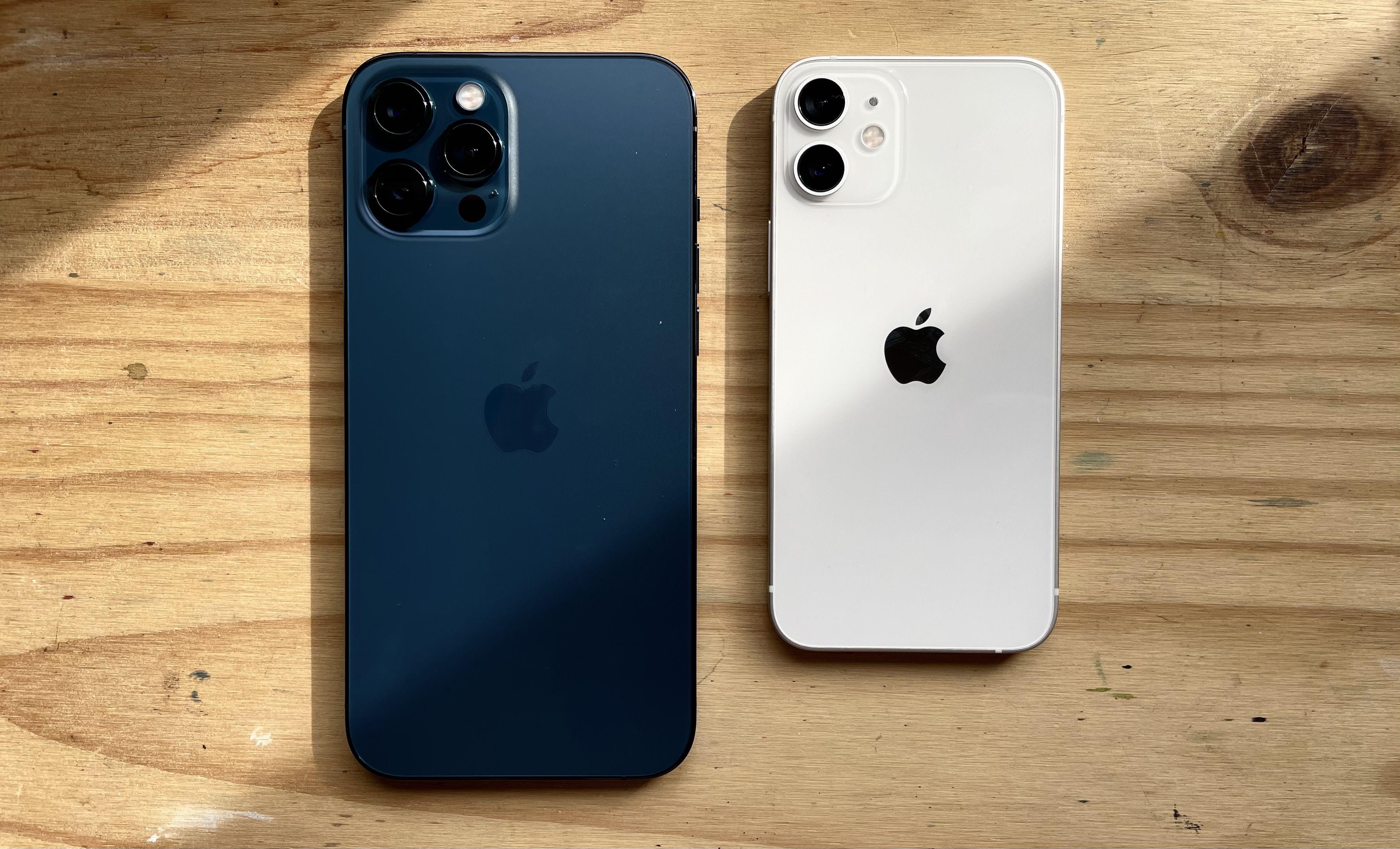 iPhone 12 Pro Max y iPhone 12 mini