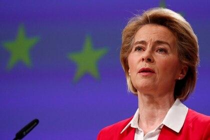 La presidenta de la Comisión Europea, Ursula von der Leyen (REUTERS/Francois Lenoir)