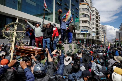 Una manifestación en apoyo a Morales, el 21 de noviembre (Reuters)