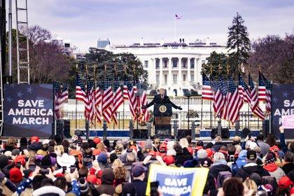 Donald Trump está acusado de incitar a la violencia. Sus seguidores se organizaron para el ataque al Capitolio (Pete Marovich/The New York Times)