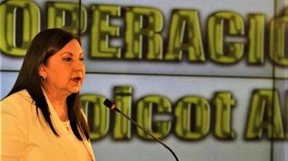 Ministra del Interior y Justicia, Carmen Meléndez