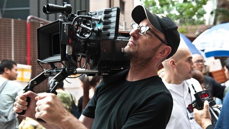 El director Soderbergh en el set de