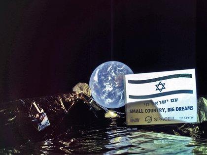 La foto difundida por la misión israelíSpaceIL (SpaceIL/AFP)