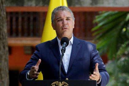 En la imagen, el presidente de Colombia, Iván Duque. EFE/Ricardo Maldonado Rozo/Archivo
