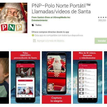 Polo Norte Portátil está disponible para iOS y Android