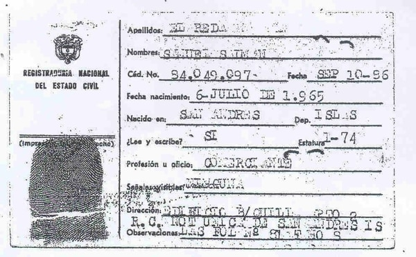 El documento -falso- con que cuenta Interpol sobre Samuel Salman El Reda