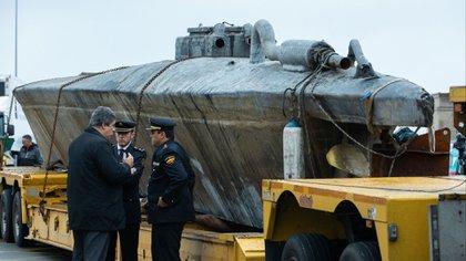 El narcosubmarino de Galicia (España) (Foto: Twitter@FORONAVAL)