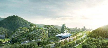 Se trata de una comunidad puramente ecológica cubierta por plantas, las cuales absorberán los contaminantes y el dióxido de carbono mientras generan oxígeno (Stefano Boeri Architetti)
