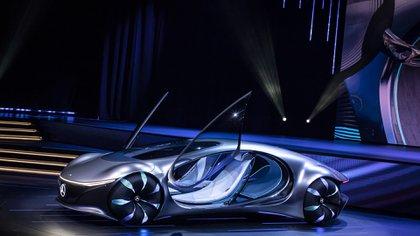 El Mercedes-Benz Vision AVTR, inspirado en la película Avatar, sin volante ni pedales. (Daimler)