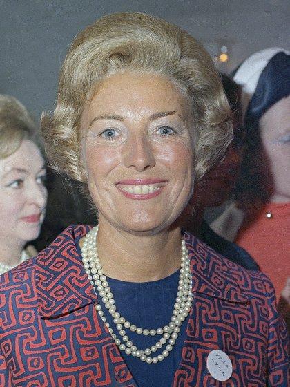 Vera Lynn durante una recepción en Londres en 1969 (AP Photo, archivo)