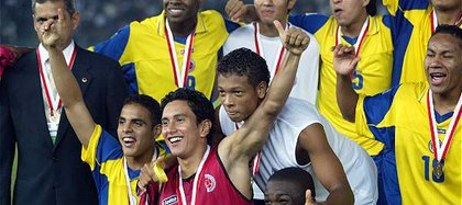 The Colombia U-20 National Team obtained a third place in the World Cup in the United Arab Emirates in 2003.