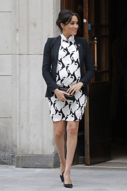 Mini vestido de print geométrico