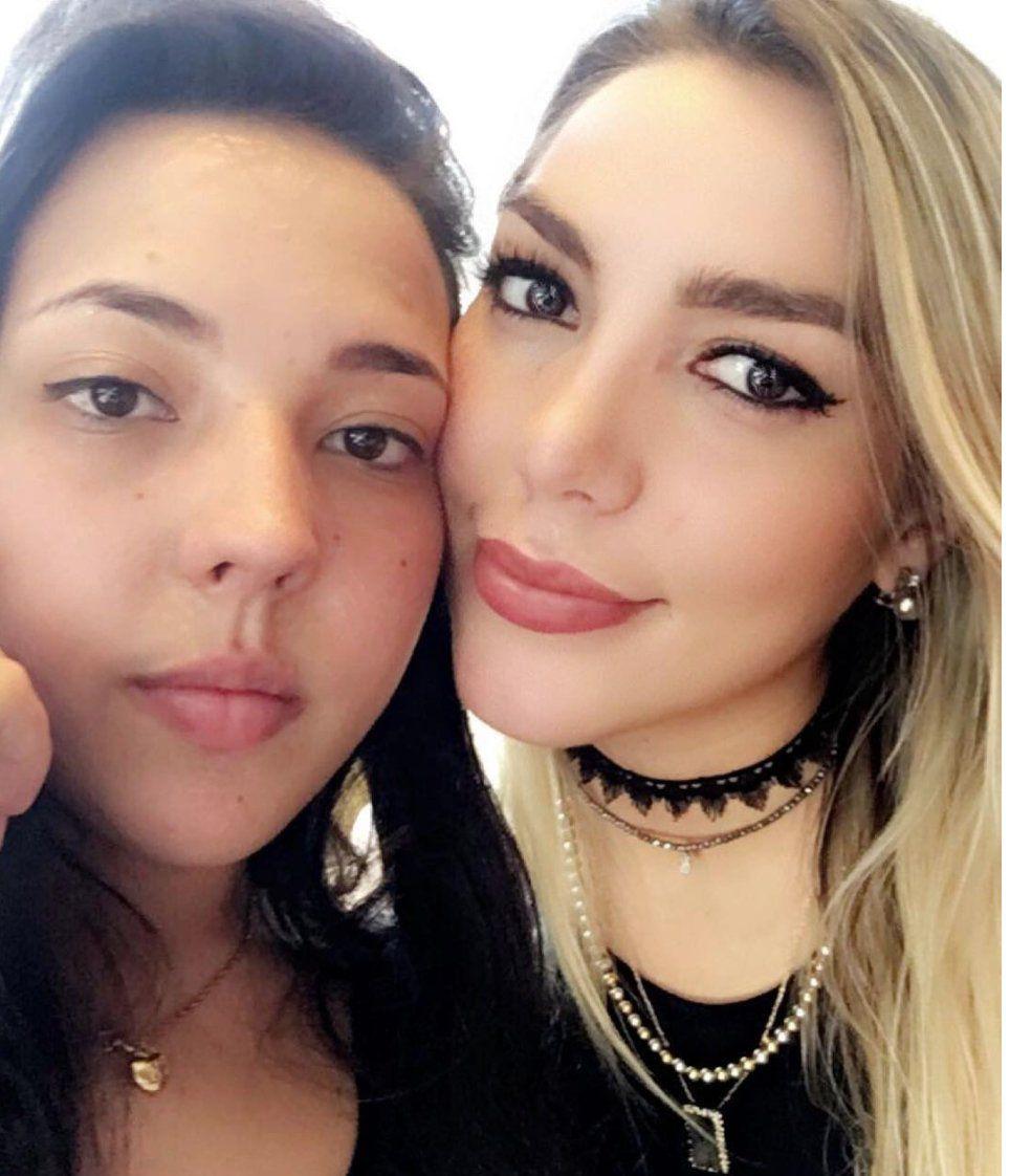 Natasha Moctezuma y Frida Sofía