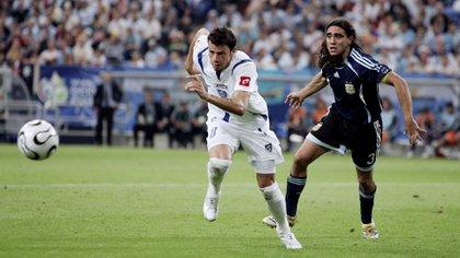 Mateja Kezman enfrentó a Argentina en el Mundial de Alemania 2006 (The Grosby Group)