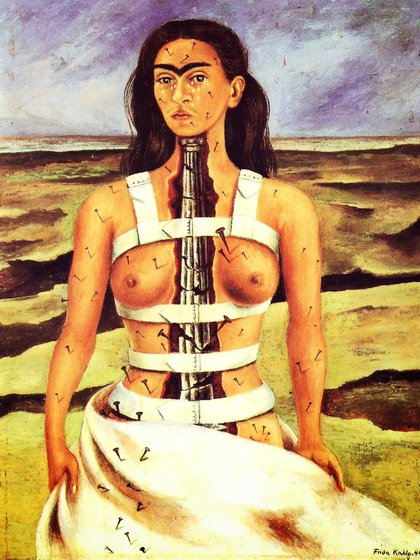 """Frida Kahlo. """"La columna rota"""" (1944)"""