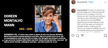 El anuncio de su representante en Instagram