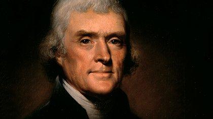 Thomas Jefferson fue electo presidente en 1801 por decisión de la Cámara de Representantes, tras empatar en el Colegio Electoral con Aaron Burr