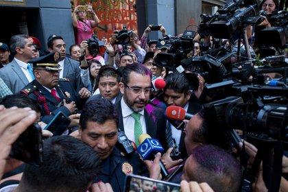 Orta Martínez se negó a hablar con las manifestantes (Foto: Cuartoscuro)