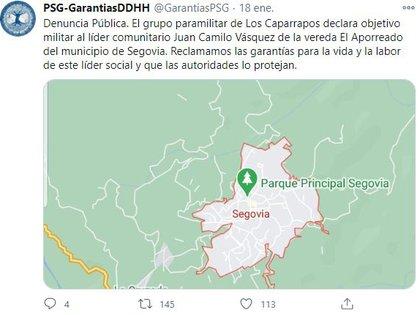 Proceso Social de Garantías para la labor de las y los defensores de derechos humanos en Antioquia. @GarantiasPSG