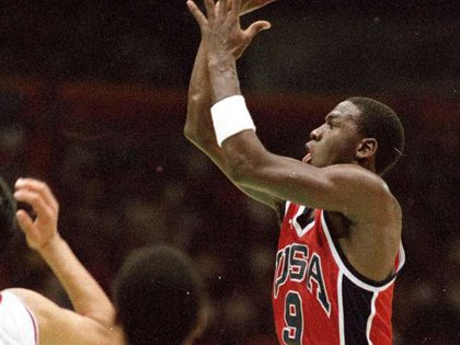 Jordan fue la figura de la selección de Estados Unidos en los Juegos Olímpicos de Los Ángeles 1984