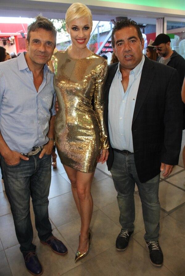 Miriam respondió a las críticas de Marcelo de Bellis e Ingrid Grudke (en la foto junto a Diego Pérez), por la polémica imagen