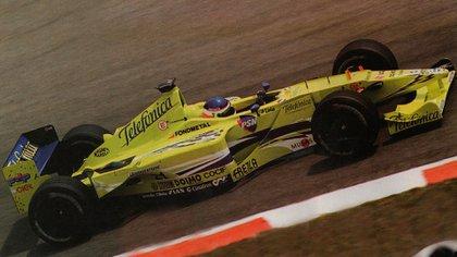 El Rayo en acción con el Minardi (Archivo CORSA).