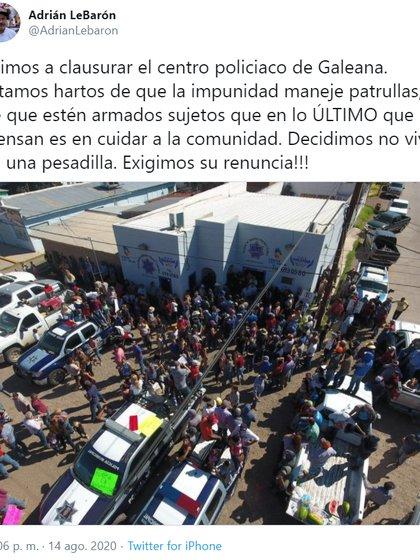 Adrián LeBarón es otro activista miembro de esta familia mormona chihuahuense. También participa en la manifestación. (Foto: twitter/@AdrianLebaron)