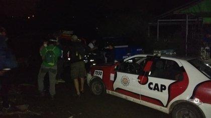 Después que actuaron los vecinos llegó la policía