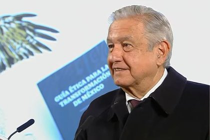 Andrés Manuel López Obrador led the presentation of the Ethical Guide for the Transformation of Mexico (Photo: Presidency of the Republic)