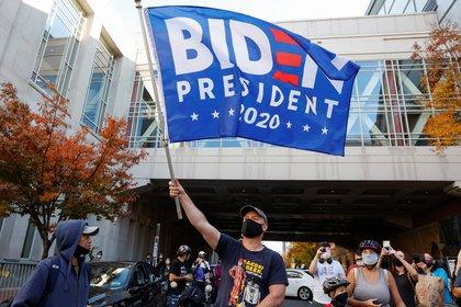 Celebraciones en Pensilvania. REUTERS/Rachel Wisniewski