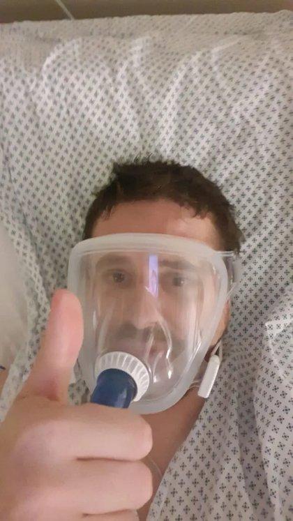 Doctor Andrés Meza, primer paciente recuperado por tratamiento de Plasma