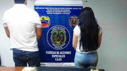 Merlano tras ser capturada en Venezuela (Foto: Instagram MNiguel Domínguez /@migueldominguez08)