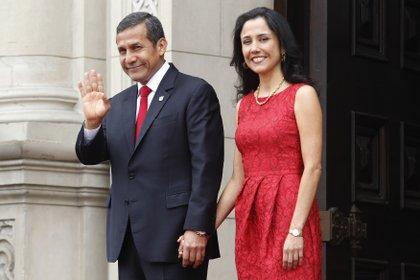 El ex presidente peruano Ollanta Humala y su mujer Nadine Heredia.