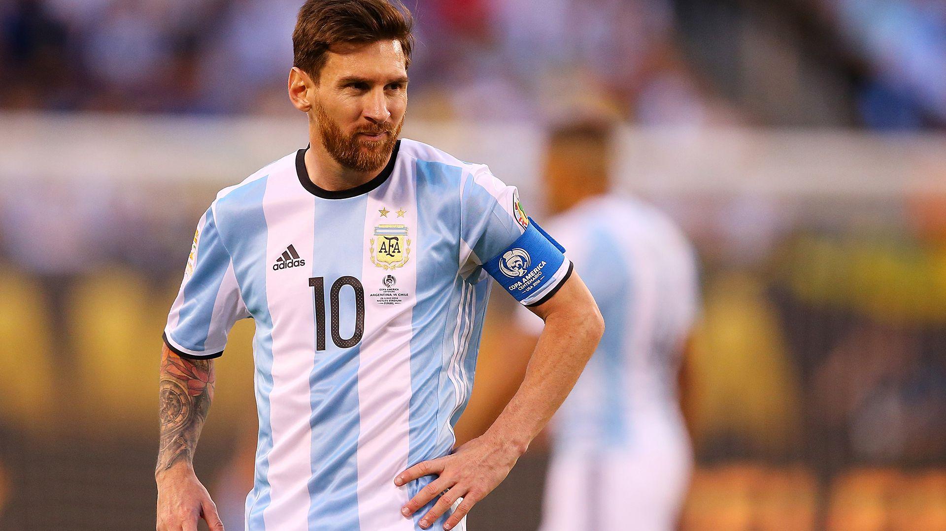 Con barba tupida durante la Copa América del 2016