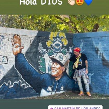 """""""Hola D10s"""", escribió Osvaldo junto a la foto que posteó en sus redes sociales"""