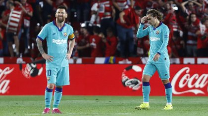 Messi y Griezmann no se encuentran con frecuencia en el campo (AP Photo/Miguel Morenatti)