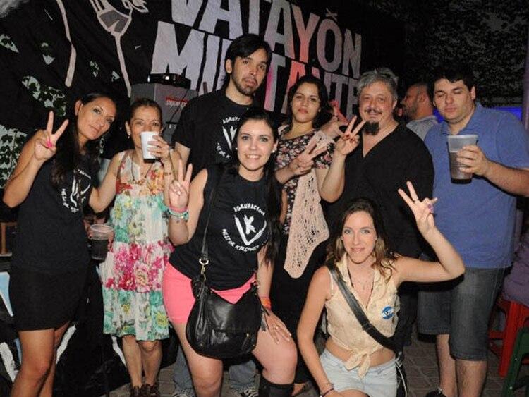 Militantes del Vatayón kirchnerista