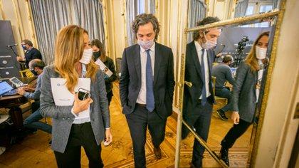 Santiago Cafiero, en una reunión en Casa Rosada.