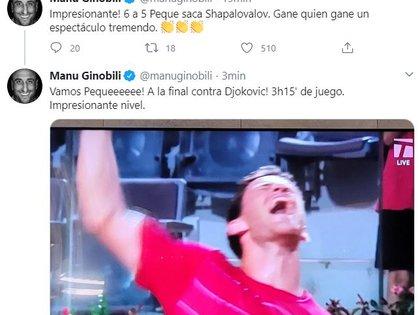 Ginóbili explotó en Twitter con el triunfo de Peque