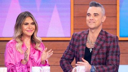 Robbie Williams y su mujer, Ayda Field (Shutterstock)