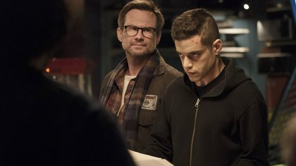 "Christian Slater en ""Mr. Robot"" (Crédito: Virginia Sherwood / USA Network)"