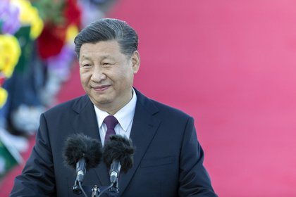 Xi Jinping, China's president, delivers a speech after arriving at Macau International Airport in Macau, China, on Wednesday, Dec. 18, 2019. President Xi is expected to use a visit marking 20 years of Chinese rule over Macau this week to send a message to the protest-stricken financial hub some 50 kilometers (30 miles) to the east: work with us and get rich.