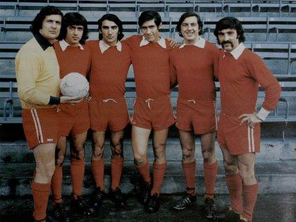 Santoro, Commisso, López, Sa, Garisto y Pavoni en la época dorada de Independiente (Foto: Sitio oficial Copa Libertadores)
