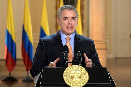 """Iván Duque, presidente de Colombia dijo que estaba estudiando si ampliar la cuarentena o decretar un """"aislamiento inteligente""""."""